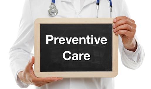 Doctor with Board Preventive Care